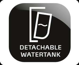 Abnehmbarer Wassertank
